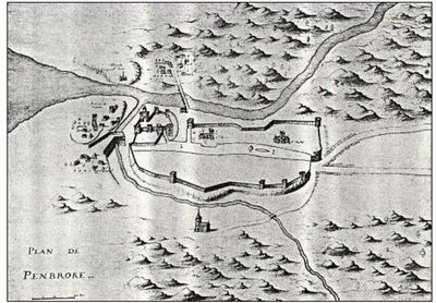 French Map of Pembroke c.1650